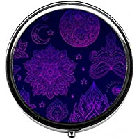 LinJxLee Mandala Purple Portable Round Pill Case Pill Box Medicine Box Medicine Tablet Vitamin Organizer for Purse... preisvergleich bei billige-tabletten.eu