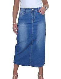 365e10af8 Amazon.es  falda vaquera - Trapecio   Faldas   Mujer  Ropa