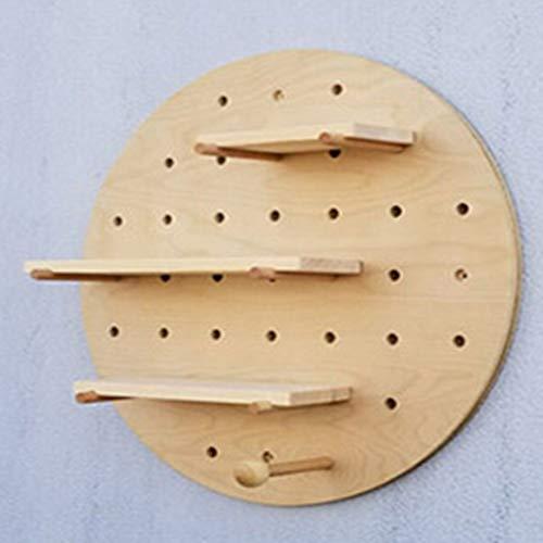 bienddyicho Holzloch Bord Ausstellungsstand Lagerung Dekoration Rack Wandhalterung Regal Wohnzimmer Küche Kreative Display Rack -Schwarz -
