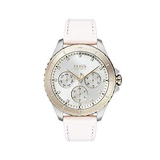 Hugo Boss Watch Reloj Multiesfera para Mujer de Cuarzo con Correa en Cuero 1502448
