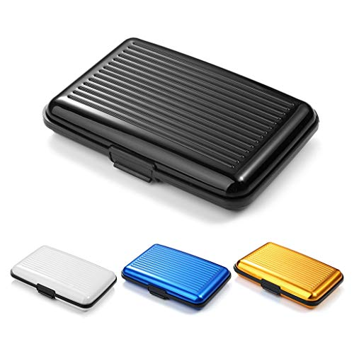 4 Stk RFID Kreditkartenetui aus Aluminium blockiert RFID Blocker Metall Visitenkartenetui Aluminium RFID Blocking Kreditkartenhalter Kreditkartenhülle Kartentasche Kreditkartenbox