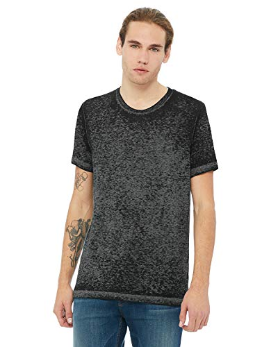 Unisex Poly-Cotton Short-Sleeve T-Shirt BLK ACID WASH XS -