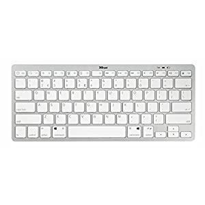Trust Nado Wireless Bluetooth Keyboard, UK Layout - White