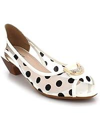 ed17c94d91427 Mujer Negras De Moda Peep Toe Noche Partido Paseo Casual Ponerse Bajo  Gatito Tacón Sandalias Zapatos