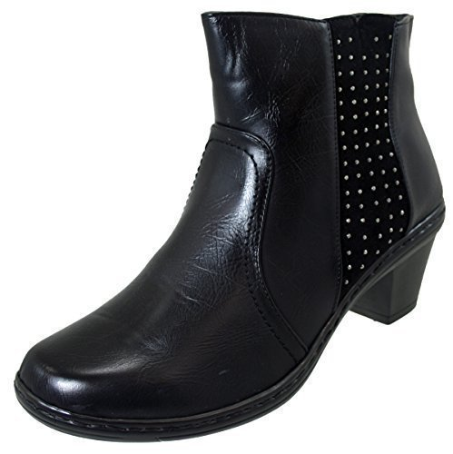 Cushion Walk Womens Black Stud Detail Ankle Boot - Size 7 UK...