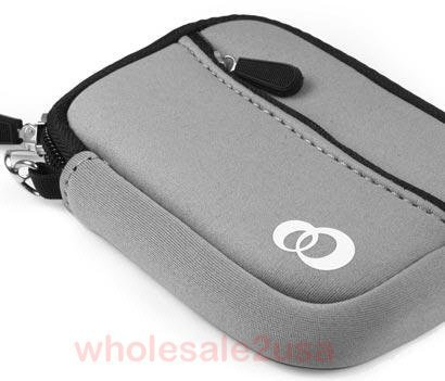 """- Gray Mini Sleeve Case Pouch Bag for Seagate WD Western Digital Hitachi Samsung Kingston Patriot Corsair Intel Laptop 2.5"""" SATA IDE SSD or Mechanical Hard Drive (fits bare drive ONLY, without externa"""