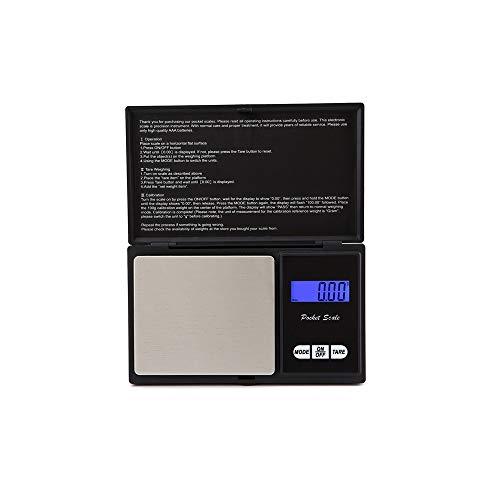 Beisoug Básculas Digitales de precisión de 500 g para joyería de Oro Báscula electrónica de 0,1 Pesos