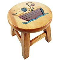 Stool For Child Wooden Elephant And Giraffe