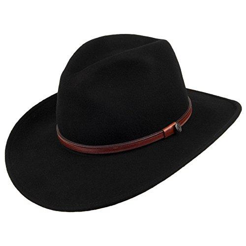 Village Hats Jaxon Sedona - Chapeau de Cowboy - Homme - Noir - Large (Taille Fabricant: Large)