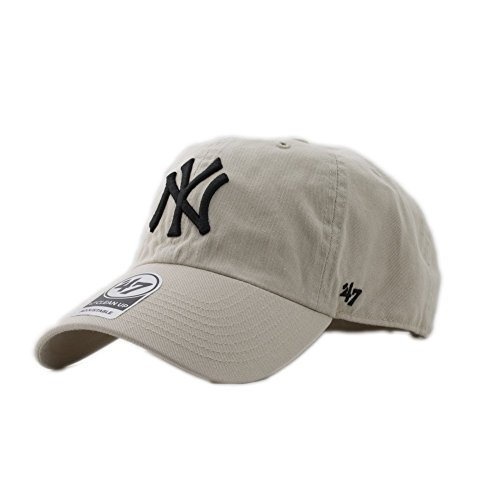 Gorra curva crema de New York Yankees MLB Clean Up de 47 Brand - Beige caf624f7ce2