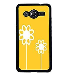 PrintVisa White Sun Flower High Glossy Designer Back Case Cover for Samsung Galaxy Core Prime :: Samsung Galaxy Core Prime G360 :: Samsung Galaxy Core Prime Value Edition G361 :: Samsung Galaxy Win 2 Duos TV G360BT :: Samsung Galaxy Core Prime Duos