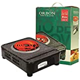 ORBON 1250 Watt Big Rectangular Marble Vitreous Black G Coil Stove Hot Plate Induction Cooktop/Induction Cookers/Electric Cooking Heater/Induction Radient Cooktop ( MADE IN INDIA )( HUGE DIWALI DISCOUNT & FREE SHIPPING )