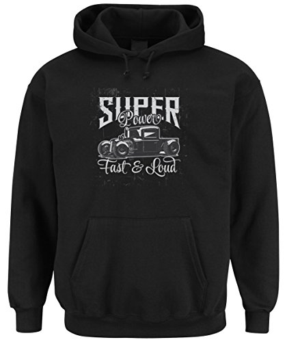 Super Power Hooded Sweater Black Certified Freak-XXL (Camaro Hoodie)