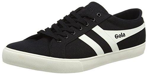Gola Herren Varsity Sneaker, Schwarz Off White Bw Black, 45 EU - Varsity Herren Schuhe