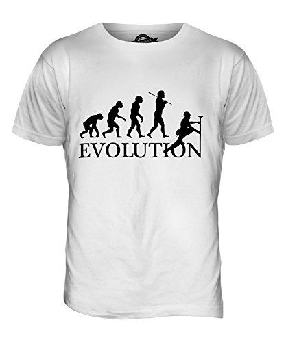 CandyMix Klettern Felsklettern Evolution Des Menschen Herren T Shirt Weiß