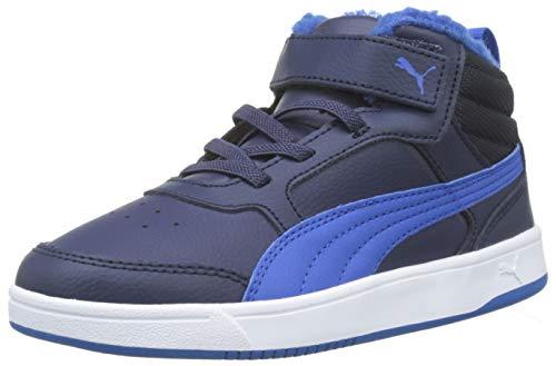 Puma Unisex-Kinder Rebound Street V2 FUR V PS Hohe Sneaker, Blau (Peacoat-Strong Blue White 05), 29 EU - Kinder Basketball-schuhe Puma
