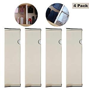 4 Pack Schubladenteiler Verstellbare Aufbewahrungs-Organisatoren aus Kunststoff - Erweiterbares Tiefes Schubladenteiler-System - Geeignet für Küche, Büro, Kommode und Vieles Mehr (Big - 36.5 cm)