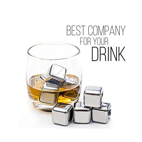 Whisky Steine Ice Cubes Die wiederverwendbaren Eiswürfel für die ideale Kühlung ohne zu verwässern Zertifizierung FDA & BPA-frei