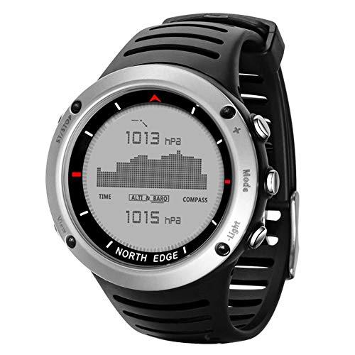 Orologio Fitness Uomo Bluetooth GPS,NORTH EDGE Orologio Sportivo da Uomo Digitale Running Swimming Sports Waterproof Smart Watch con Tempo del Termometro Della Bussola del Barometro Dell'altimetro