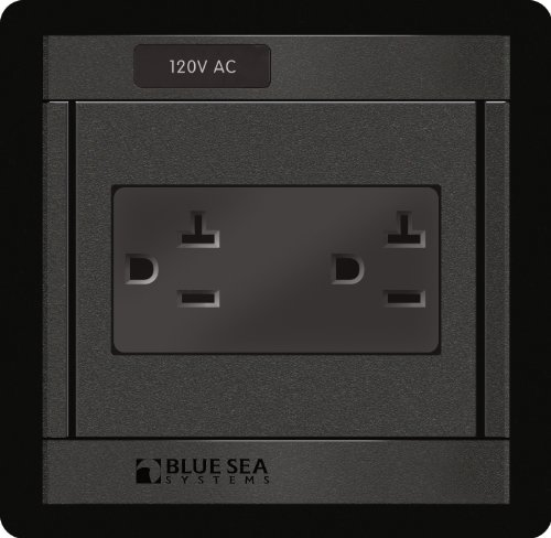 Blue Sea Systems Blue Sea 1479 360 Panel - 120V AC DUal Outlet 360 Panel-system