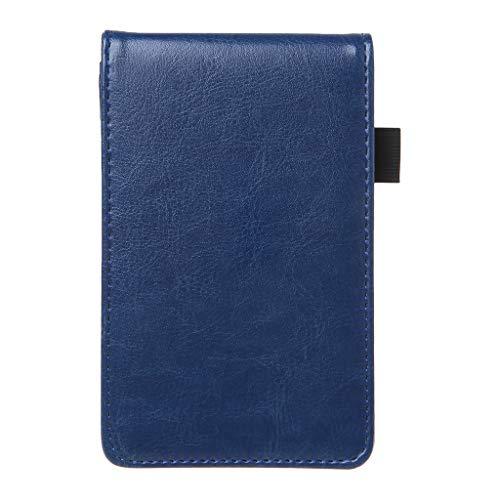Shaoyanger Multifunktions-Pocket Planer A7 Notizbuch Kleiner Notizblock Notizbuch Ledereinband Business Tagebuch Memos Büro Schule Schreibwaren Zubehör blau (Top-spirale Gebunden Notebook)