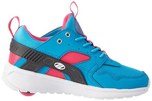 Heelys Mädchen Force Turnschuhe Blau (Aqua / Grey / Pink)