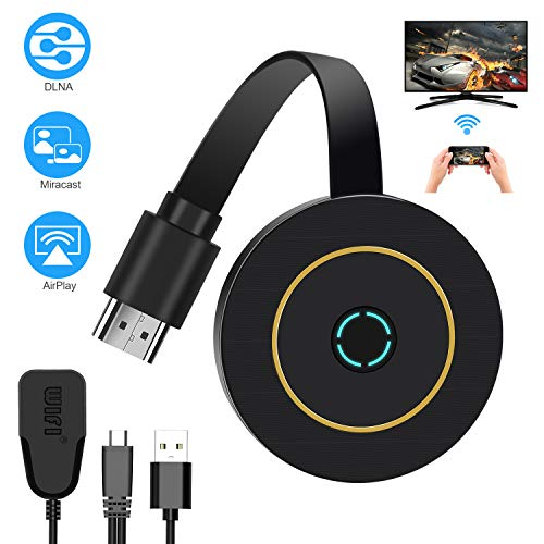 TedGem WiFi Display Dongle, Wireless Mini Display Receiver, 4K HD Ricevitore Digitale, Dongle HDMI Miracast Dongle Supporto DLNA/Airplay/Miracast per Android/Mac/Windows(2.4G & 4K)