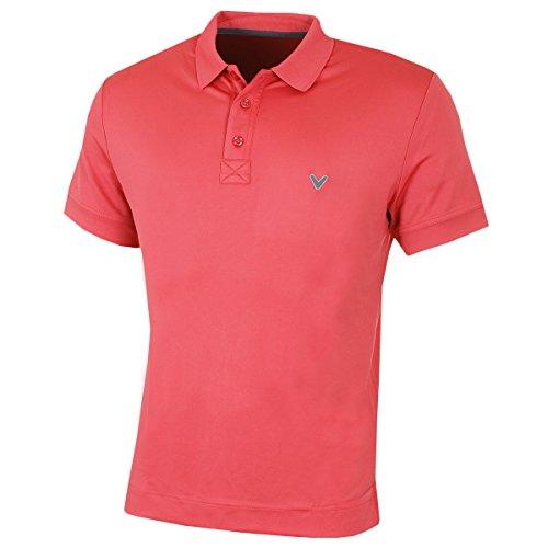 Callaway Golf Herren X Bereich Massiv Polo II Hemd - Claret Rot - S (Opti-bereich)