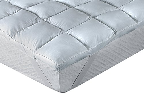 Classic Blanc - Surmatelas en fibre antiallergique, comfort Plus 8cm. 180x200 cm-Lit 180