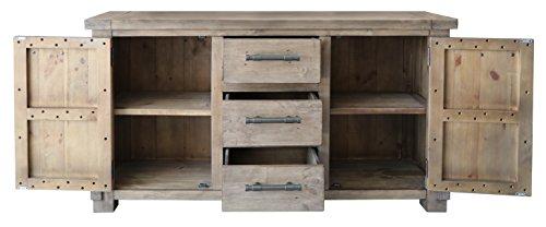 The Wood Times Sideboard Vintage Wohnzimmerschrank Massiv Industrial Kiefernholz, FSC Recycelt, BxHxT 160x85x45 cm - 4