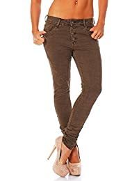 Jeans Skinny Pour Femmes Baggy Copain Sarouel Taille Basse Boutons 616