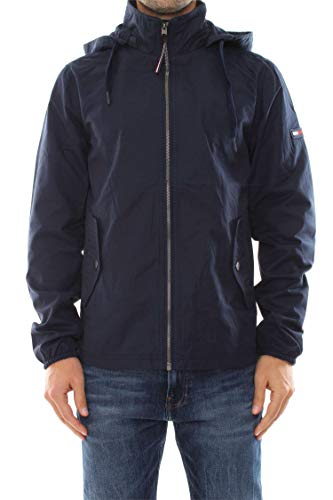 Hilfiger Denim Herren TJM Essential Hooded Jacket Jacke, Blau (Black Iris 002), Large (Herstellergröße: L) Nylon-anorak Pullover