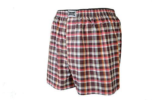 4, 8 oder 12 Stück lockere, gewebte Boxershorts; größtenteils karierte Boxer; loose fit american Style Größen S/4 bis 4XL/10 lieferbar 4x mehrfarbig
