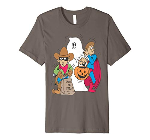 Süßes sonst gibt's Saures Halloween-Geist-Thema-Kostüm-T-Shi