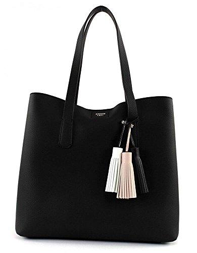 Guess Damen Bags Hobo Schultertasche, Schwarz (Black), 12.5x33.5x39 centimeters (Taschen Guess Hobo)