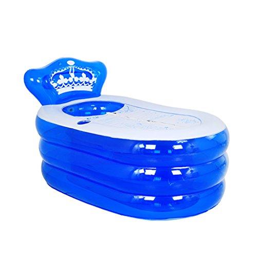 sunjun & tubble aufblasbare Badewanne Erwachsenen Größe tragbare Home Spa, komfortables Bad, Qualität Wanne, blau, 130*75*70cm