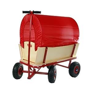 jago chariot remorque de transport main charette de jardin en bois avec b che. Black Bedroom Furniture Sets. Home Design Ideas
