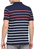 BULLMER Men's Half Sleeve Polo Neck Cotton T-Shirt - BUL-BFP302 - Navy/White