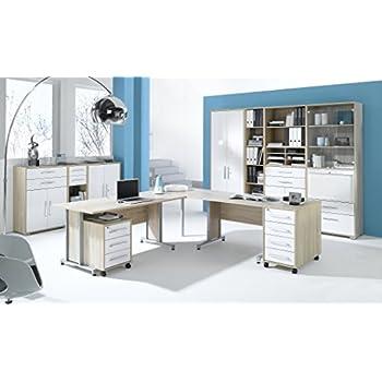 Büromöbel weiss hochglanz  Arbeitszimmer Büromöbel MAJA SYSTEM 1251 Komplettset in Eiche Sonoma ...