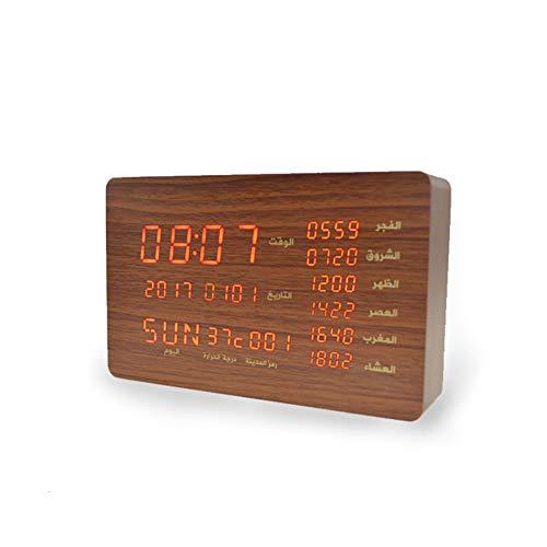 QING.MUSIC SoundAndRecordingEquipment Koran-Lautsprecher Tragbarer Bluetooth-Player Anzeige Zeit Temperatur Muslim Holz Gebet Uhr Geschenk