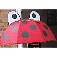 1 X Childrens Cartoon Umbrella- CARTOON LADYBIRD 48cm