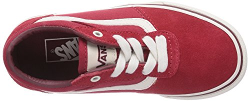 VansMILTON - Scarpe da Ginnastica Basse Unisex – Bambini Rosso (Rot ((Vintage) red/o FPM))