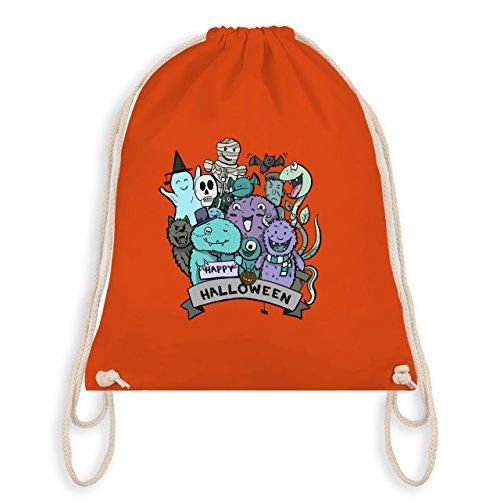 Halloween - Happy Halloween Monster - Unisize - Orange - WM110 - Turnbeutel I Gym - Bestien Kostüme