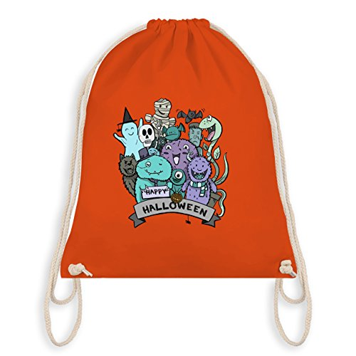 Halloween - Happy Halloween Monster - Unisize - Orange - WM110 - Turnbeutel I Gym Bag
