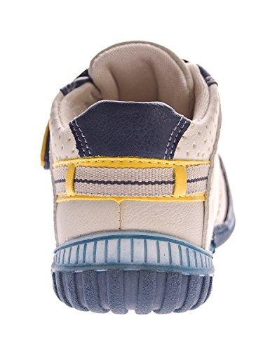 Mädchen Beige Schuhe blau Schuh Halb Innensohle Sneaker 30 Kinder Gr 25 Kita Leder Jungen qTSERg
