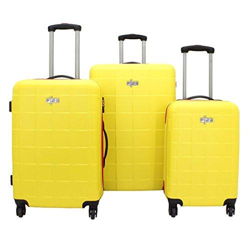 Juego de 3 maletas amarillas de viaje