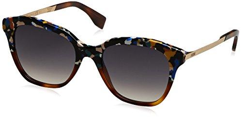 Fendi ff 0089/s 9c, occhiali da sole donna, nero (mltclr), 52