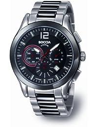 Boccia Herren-Armbanduhr Chronograph Quarz Titan 3771-02