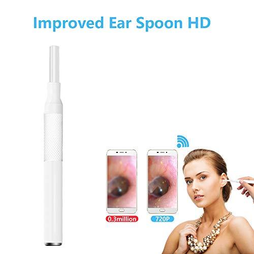 SSeir HD Endoskop-Ohr, 3,9 Mm Inspektionskamera Körperpflege Ohrenreiniger Endoskop USB-Otoskop-Tool IP67 wasserdicht mit LED-Licht, für Android/IOS/PC,Weiß