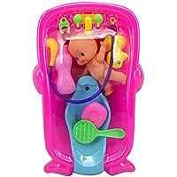 Fansport 7 UNIDS Juguete de Baño de Bebé Juguete de Bañera de Juguete Surtido de Baby